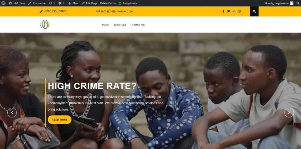 Helpline Malawi Website